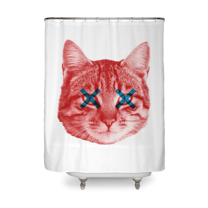 Dead and Alive Home Shower Curtain by lxromero