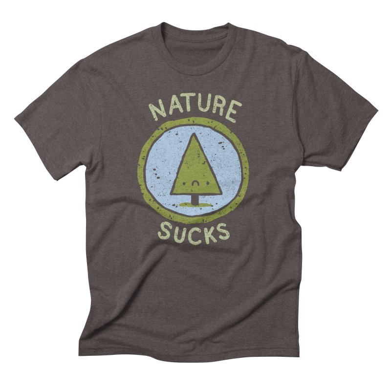 Nature in Men's Triblend T-Shirt Tri-Coffee by Luis Romero