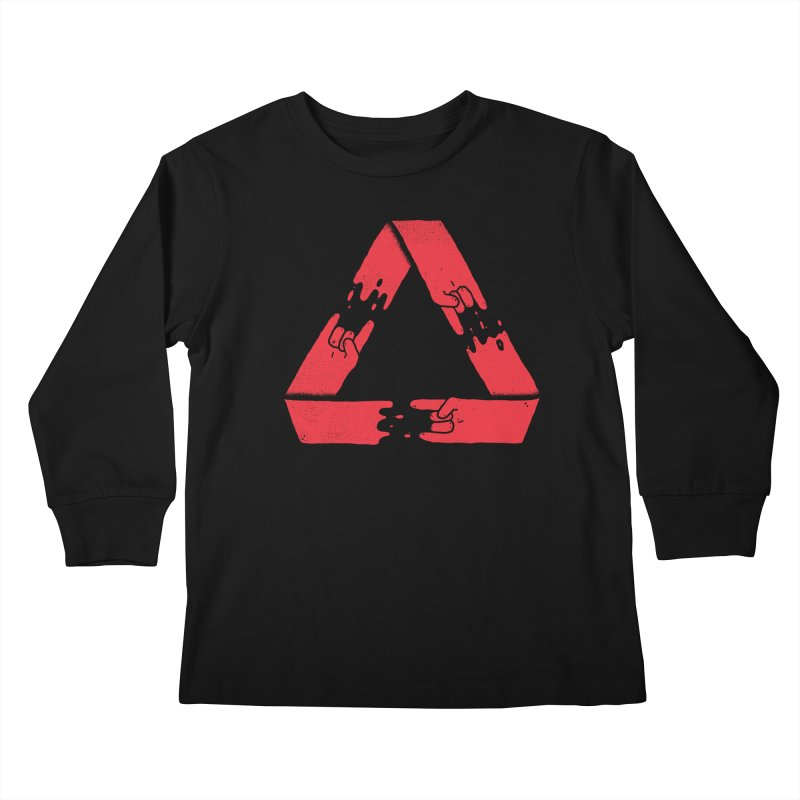 Rock on, and on, and on... Kids Longsleeve T-Shirt by Luis Romero