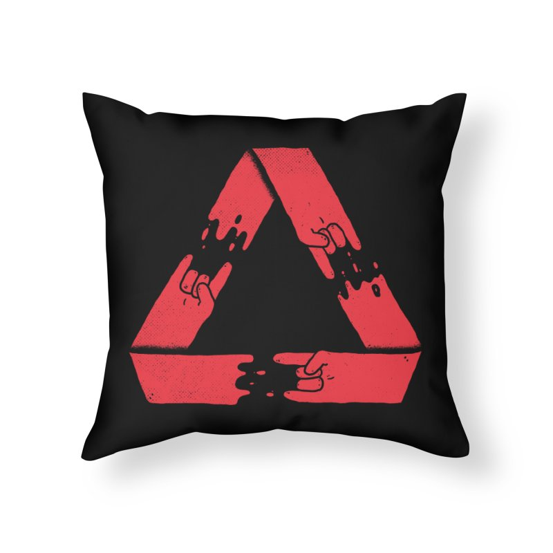 Rock on, and on, and on... Home Throw Pillow by Luis Romero