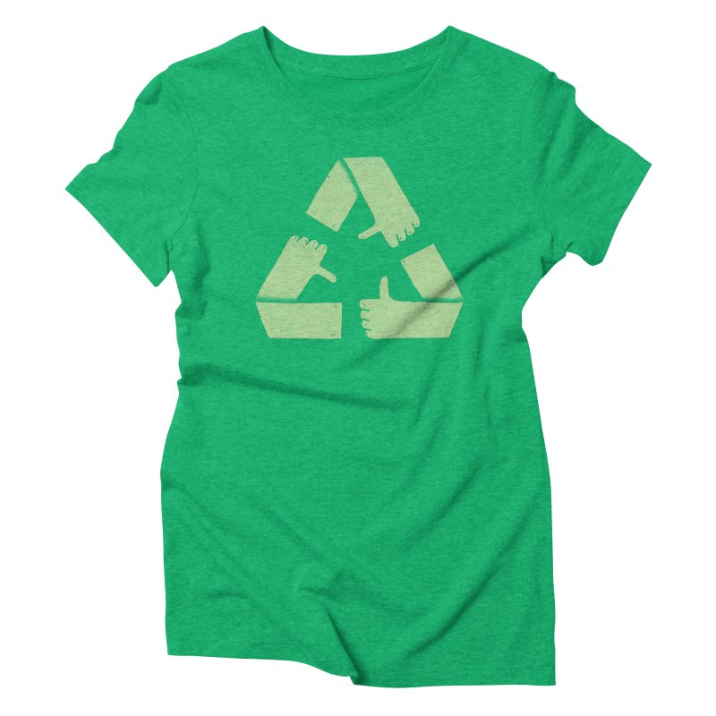Good Feelings All Around in Women's Triblend T-Shirt Tri-Kelly by Luis Romero Shop