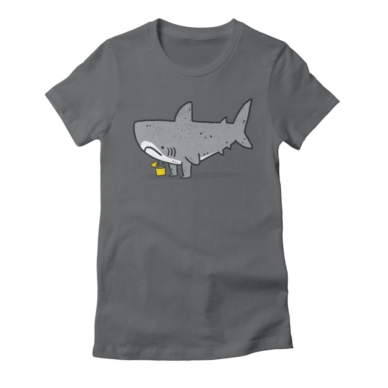 Beach Day Women's Fitted T-Shirt by Luis Romero