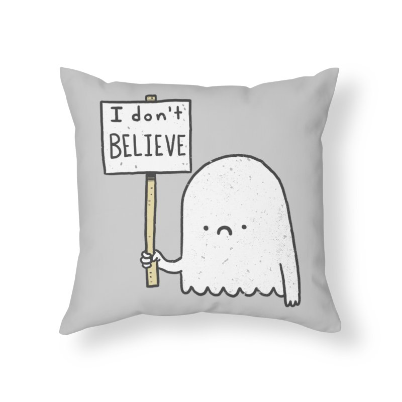 Skeptics Home Throw Pillow by Luis Romero