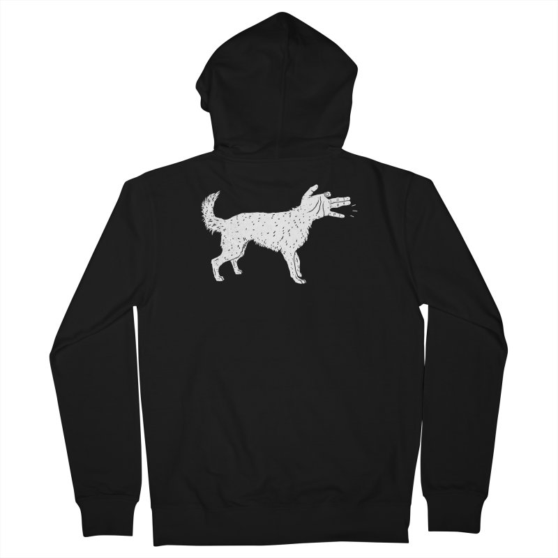 Woof! Men's Zip-Up Hoody by lxromero