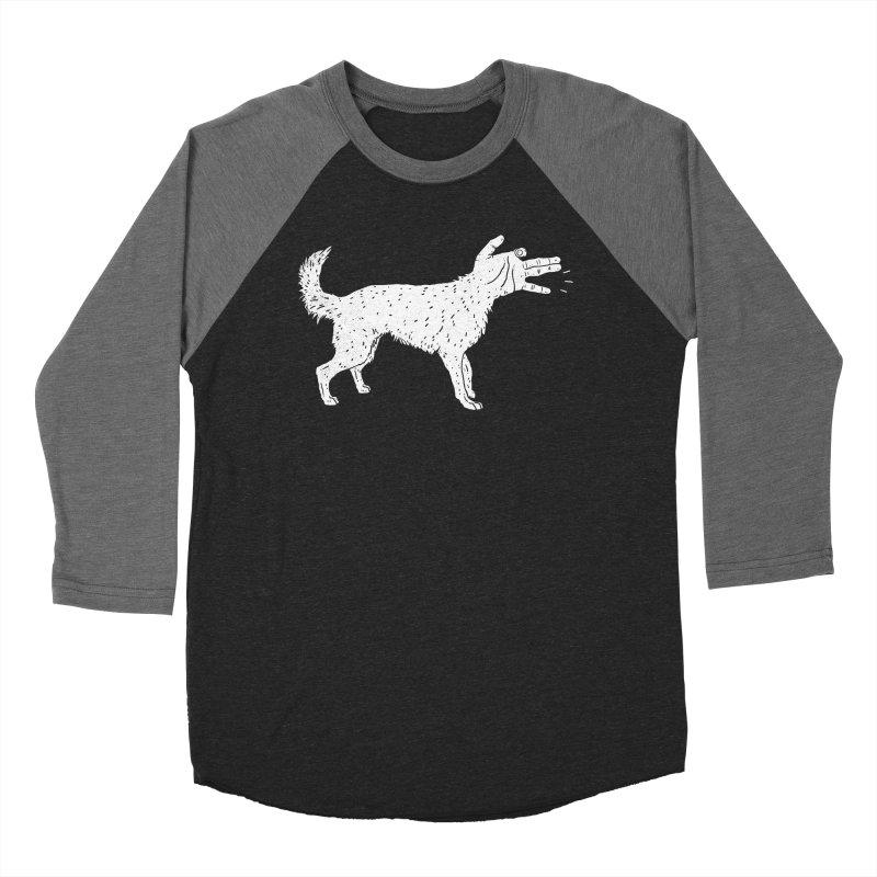 Woof! Women's Baseball Triblend T-Shirt by Luis Romero