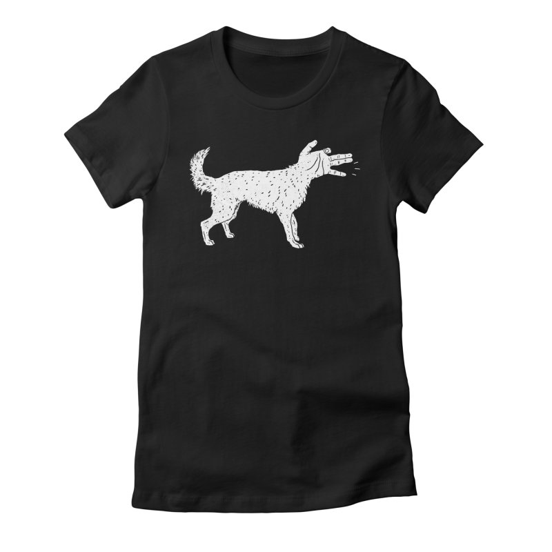 Woof! Women's Fitted T-Shirt by Luis Romero