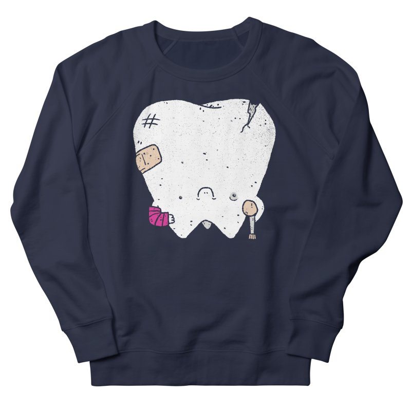 Toothache Men's French Terry Sweatshirt by Luis Romero