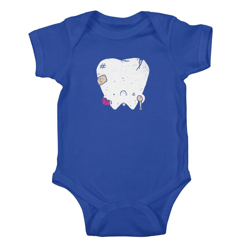 Toothache Kids Baby Bodysuit by lxromero
