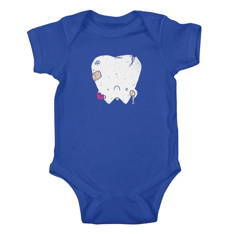 Toothache Kids Baby Bodysuit by Luis Romero