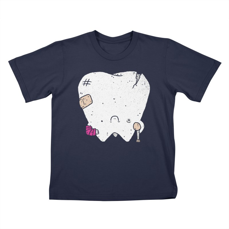 Toothache Kids T-Shirt by Luis Romero
