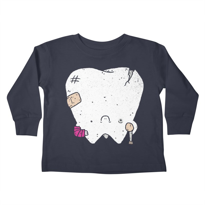 Toothache Kids Toddler Longsleeve T-Shirt by Luis Romero