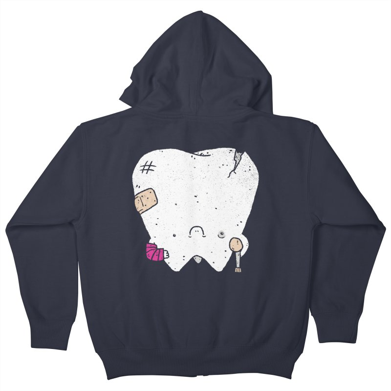 Toothache Kids Zip-Up Hoody by lxromero