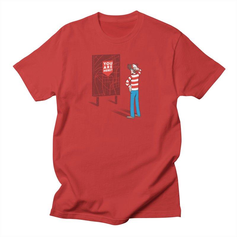 Where am I? Men's T-shirt by lxromero