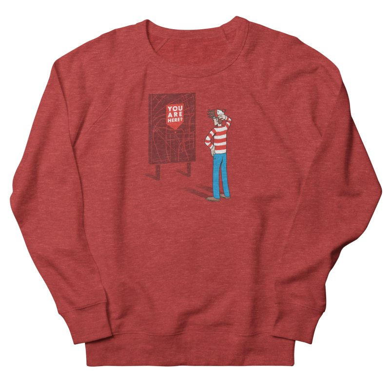 Where am I? Men's French Terry Sweatshirt by Luis Romero