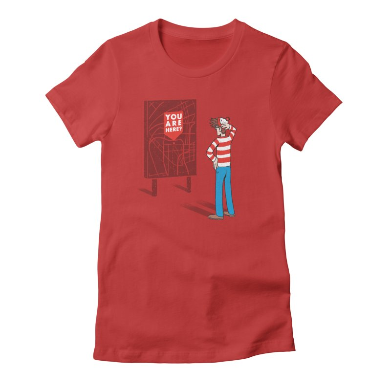 Where am I? Women's Fitted T-Shirt by lxromero