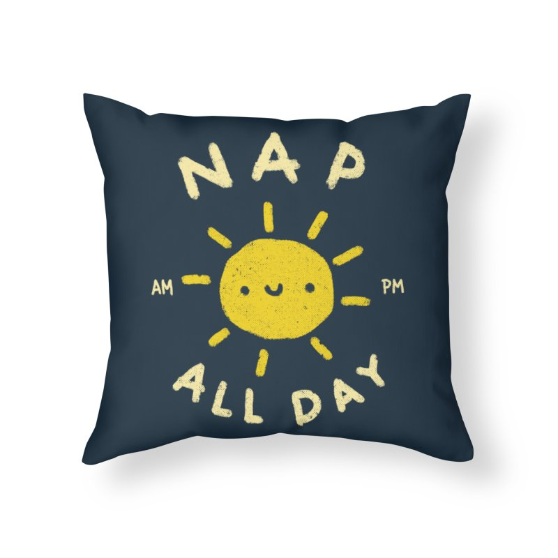 All Day Home Throw Pillow by Luis Romero