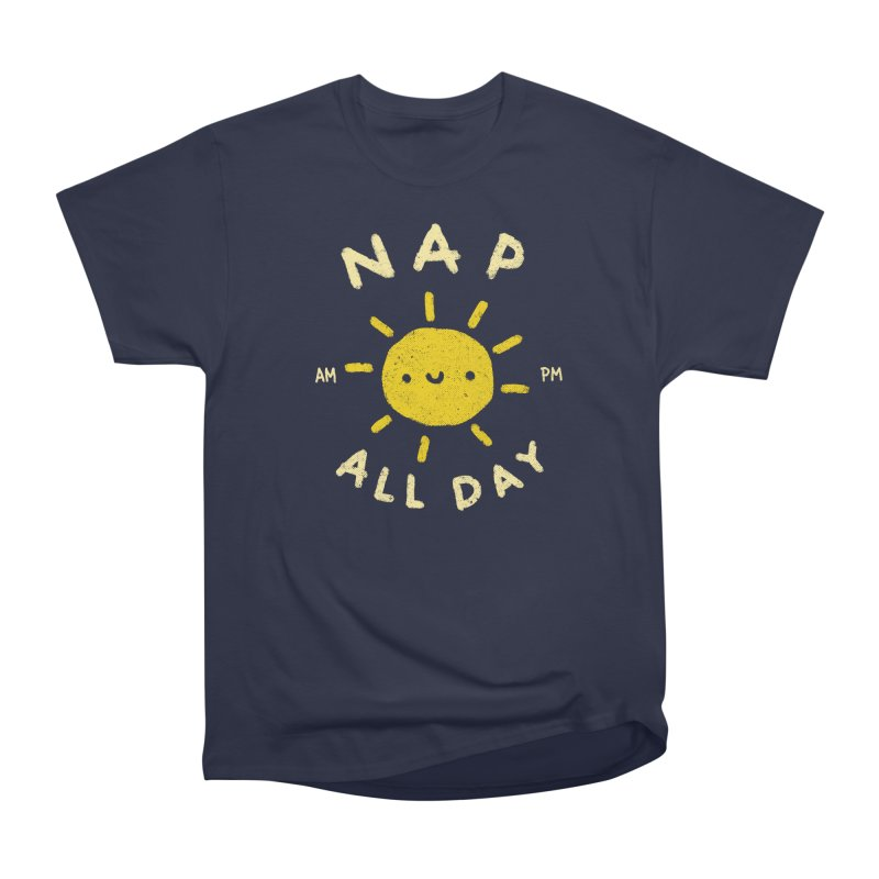 All Day in Men's Heavyweight T-Shirt Navy by Luis Romero Shop