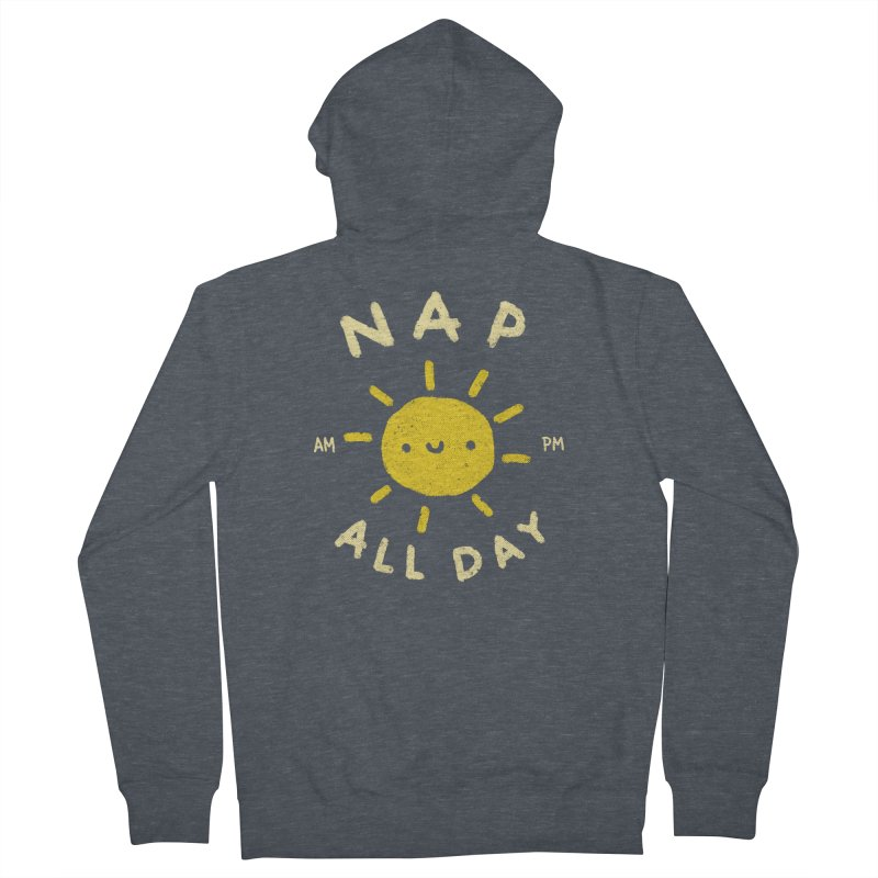 All Day Men's French Terry Zip-Up Hoody by Luis Romero