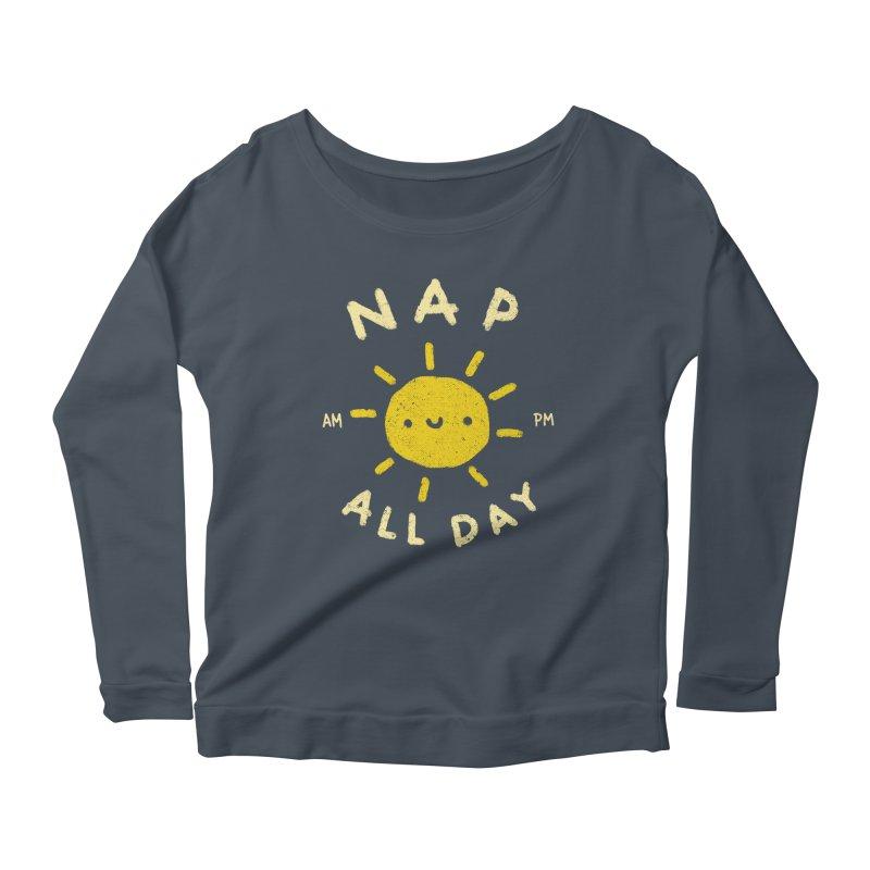 All Day Women's Scoop Neck Longsleeve T-Shirt by Luis Romero