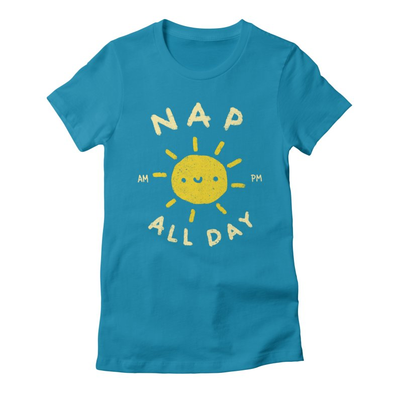 All Day Women's Fitted T-Shirt by Luis Romero Shop