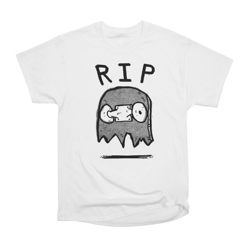 RIP in Men's Heavyweight T-Shirt White by Luis Romero