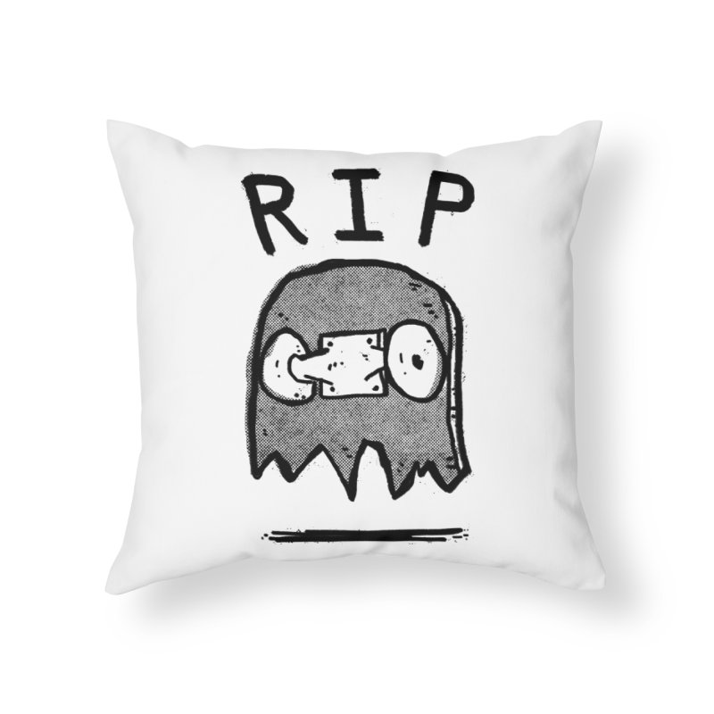 RIP Home Throw Pillow by Luis Romero Shop