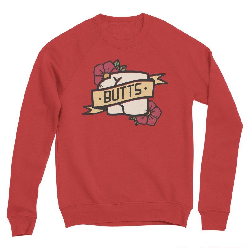 Butts Women's Sponge Fleece Sweatshirt by Luis Romero