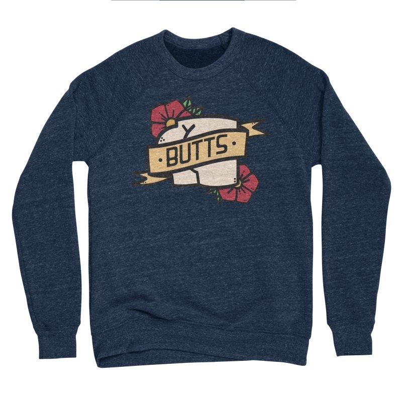 Butts Men's Sponge Fleece Sweatshirt by Luis Romero Shop