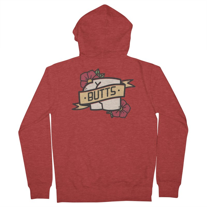 Butts Men's French Terry Zip-Up Hoody by Luis Romero