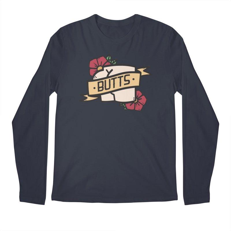 Butts Men's Regular Longsleeve T-Shirt by Luis Romero