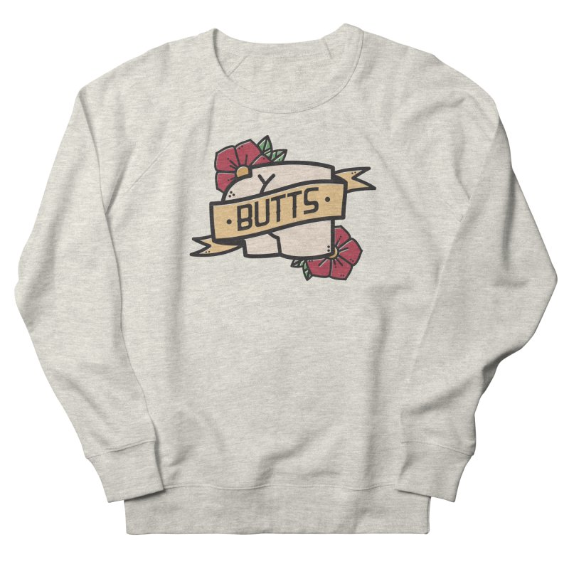 Butts Men's French Terry Sweatshirt by Luis Romero