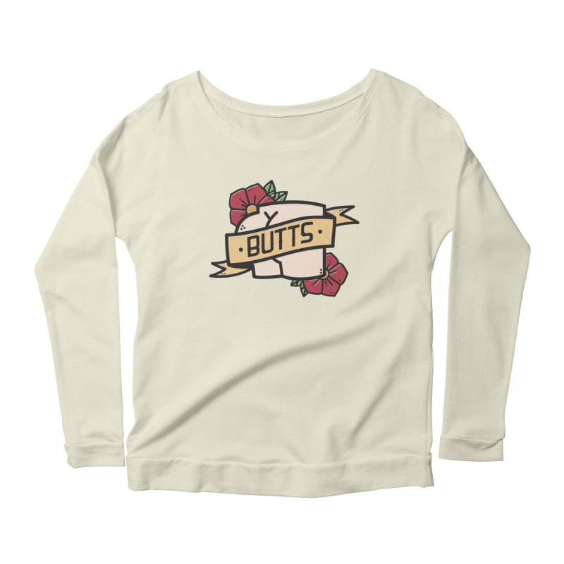 Butts Women's Scoop Neck Longsleeve T-Shirt by Luis Romero Shop