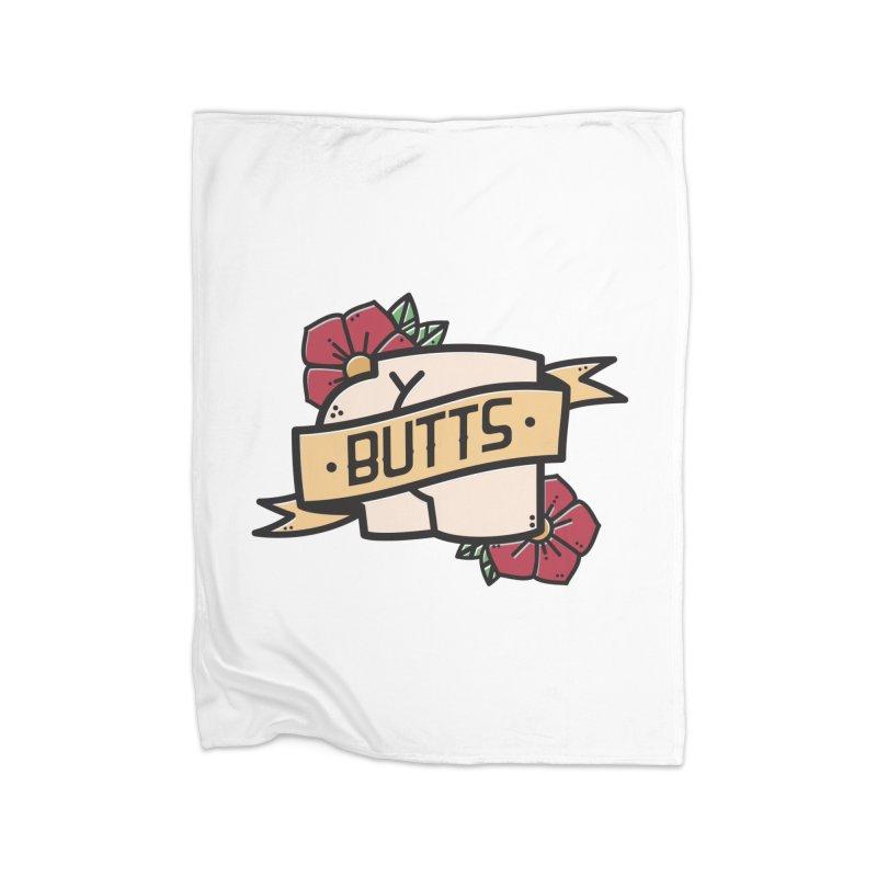 Butts Home Fleece Blanket Blanket by Luis Romero Shop