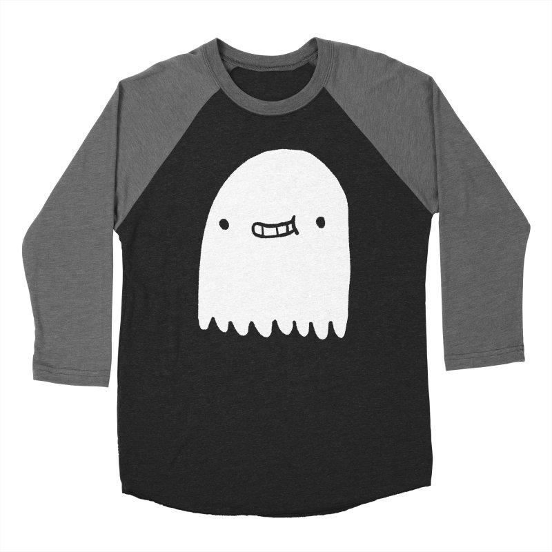 Ghost Men's Baseball Triblend Longsleeve T-Shirt by Luis Romero Shop