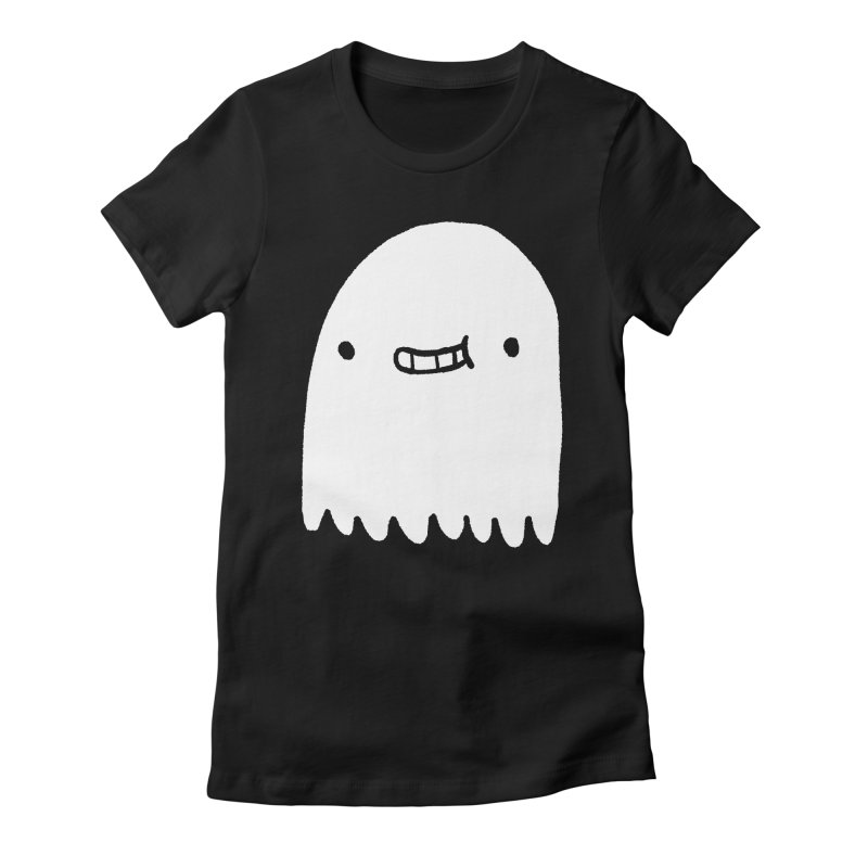 Ghost Women's Fitted T-Shirt by Luis Romero Shop