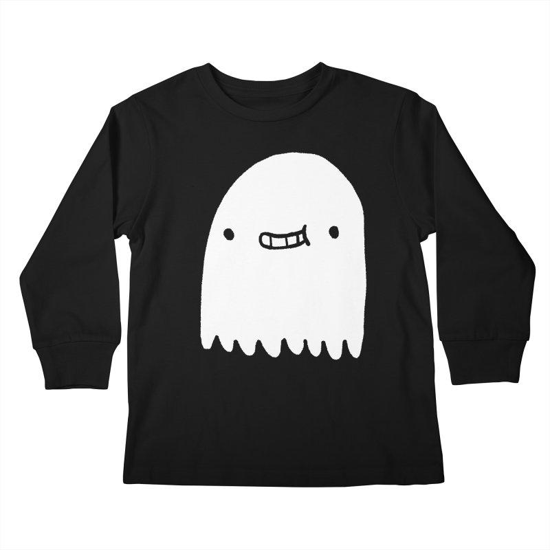Ghost Kids Longsleeve T-Shirt by Luis Romero