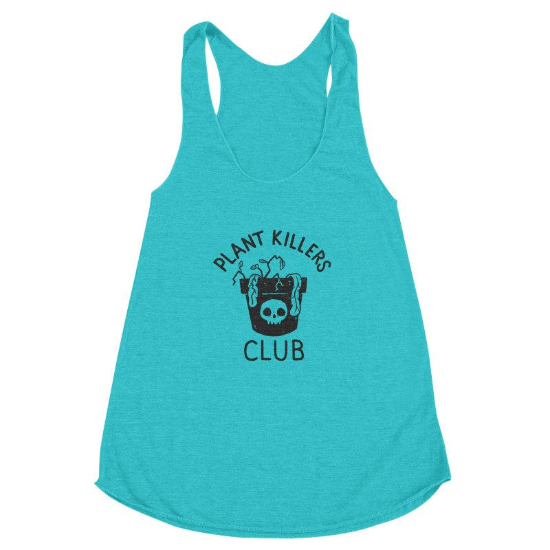 Plant Killers Club Women's Racerback Triblend Tank by Luis Romero Shop