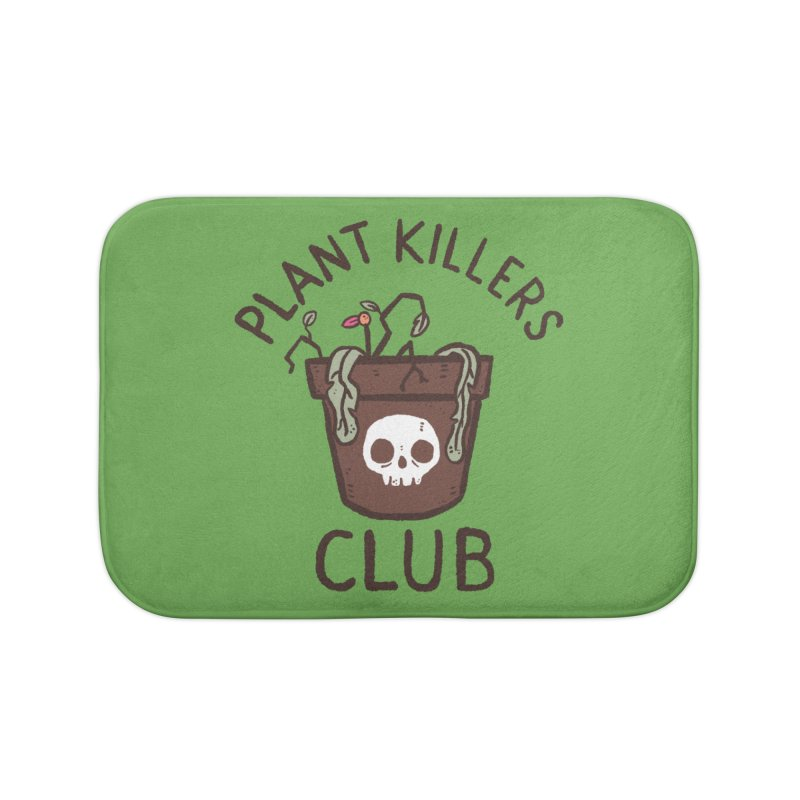 Plant Killers Club (Color) Home Bath Mat by Luis Romero Shop