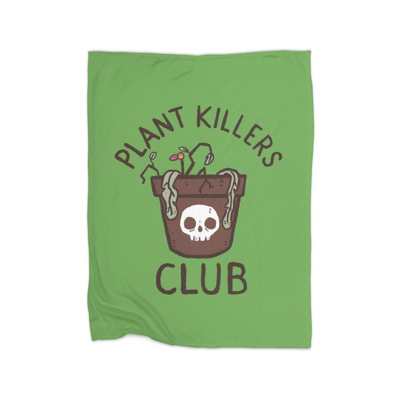 Plant Killers Club (Color) Home Fleece Blanket Blanket by Luis Romero Shop
