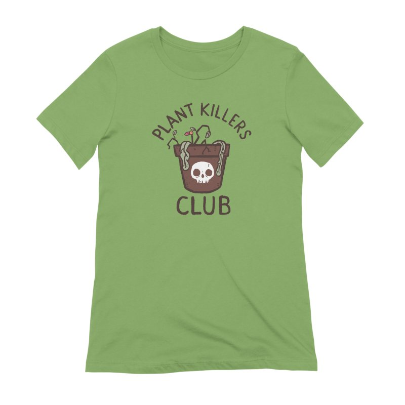 Plant Killers Club (Color) Women's Extra Soft T-Shirt by Luis Romero Shop