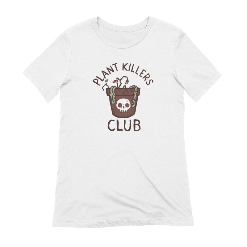 Plant Killers Club (Color) Women's Extra Soft T-Shirt by Luis Romero Shop