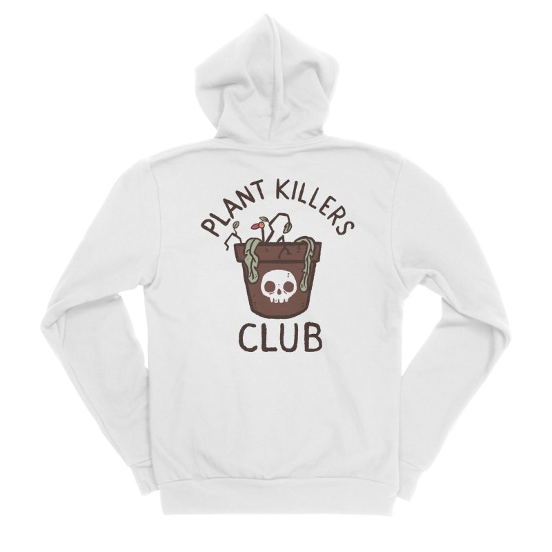 Plant Killers Club (Color) Women's Sponge Fleece Zip-Up Hoody by Luis Romero Shop
