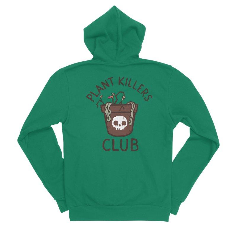 Plant Killers Club (Color) Men's Sponge Fleece Zip-Up Hoody by Luis Romero Shop