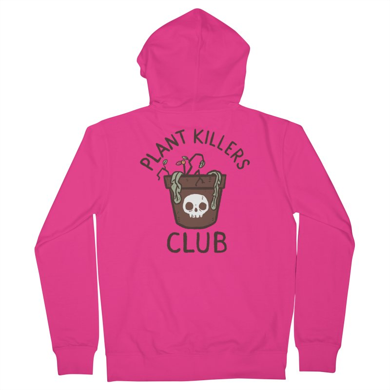 Plant Killers Club (Color) Men's French Terry Zip-Up Hoody by Luis Romero Shop