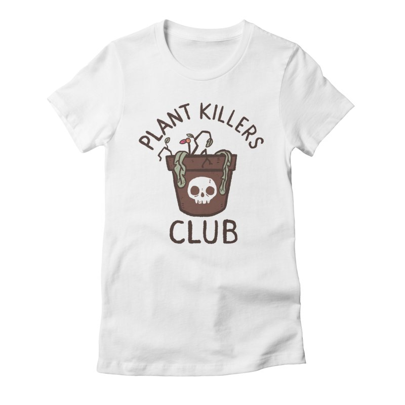 Plant Killers Club (Color) Women's Fitted T-Shirt by Luis Romero Shop