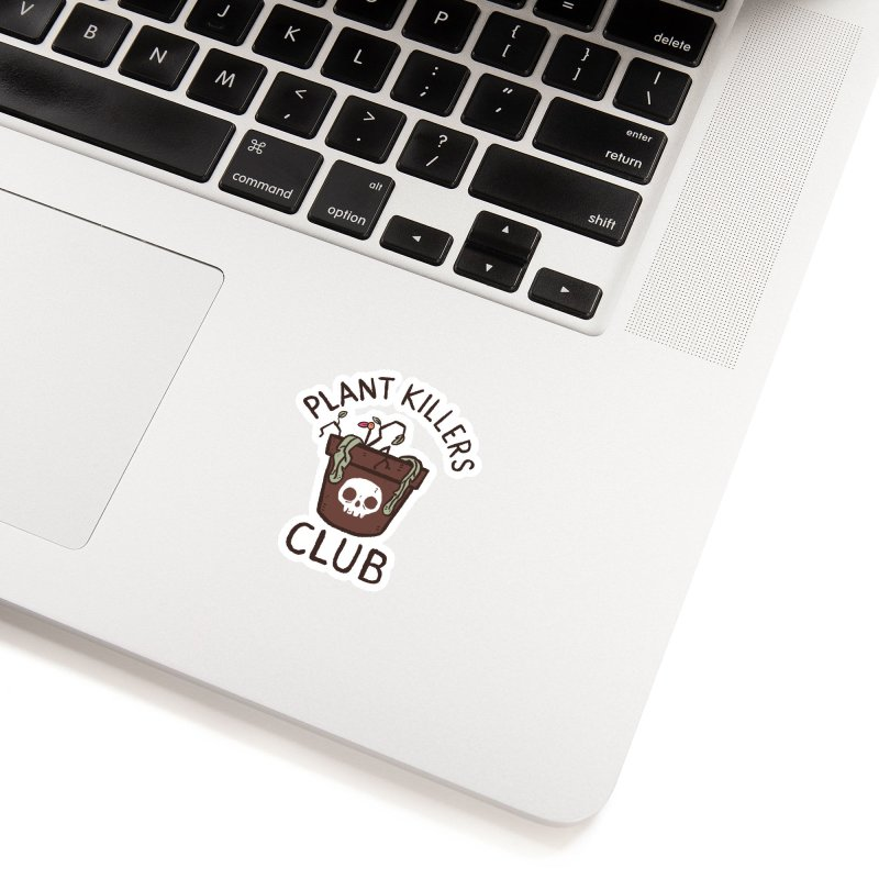 Plant Killers Club (Color) Accessories Sticker by Luis Romero Shop