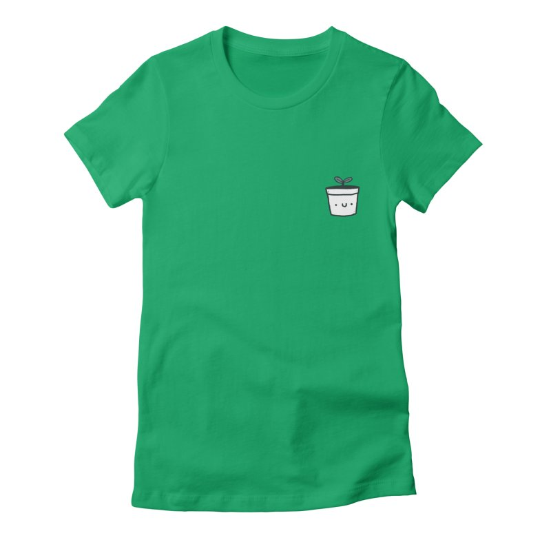Plant Women's Fitted T-Shirt by Luis Romero Shop