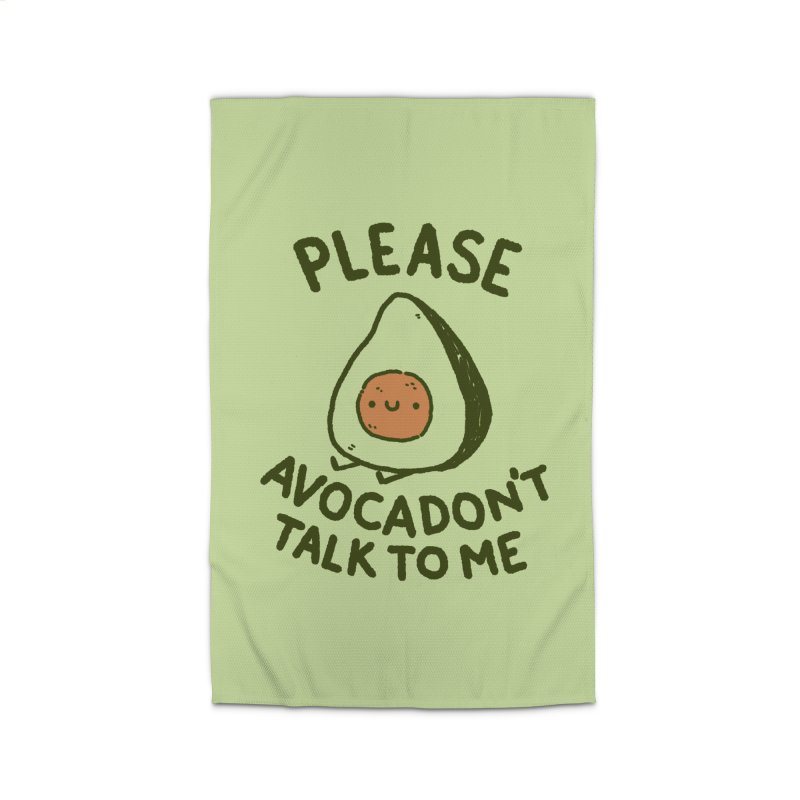 Avocadon't Home Rug by Luis Romero Shop