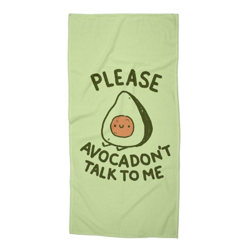 Avocadon't Accessories Beach Towel by Luis Romero Shop