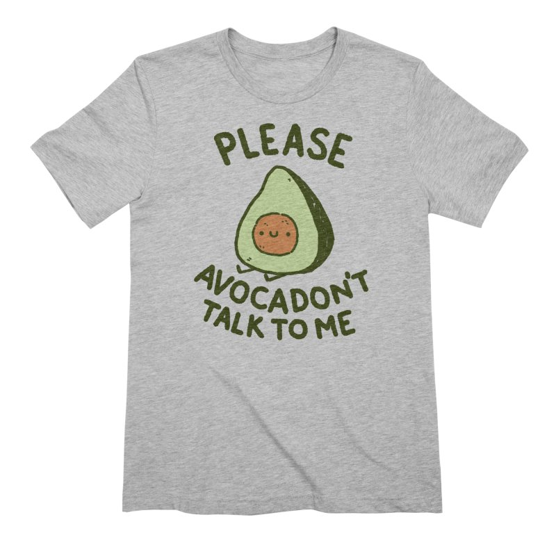 Avocadon't in Men's Extra Soft T-Shirt Heather Grey by Luis Romero